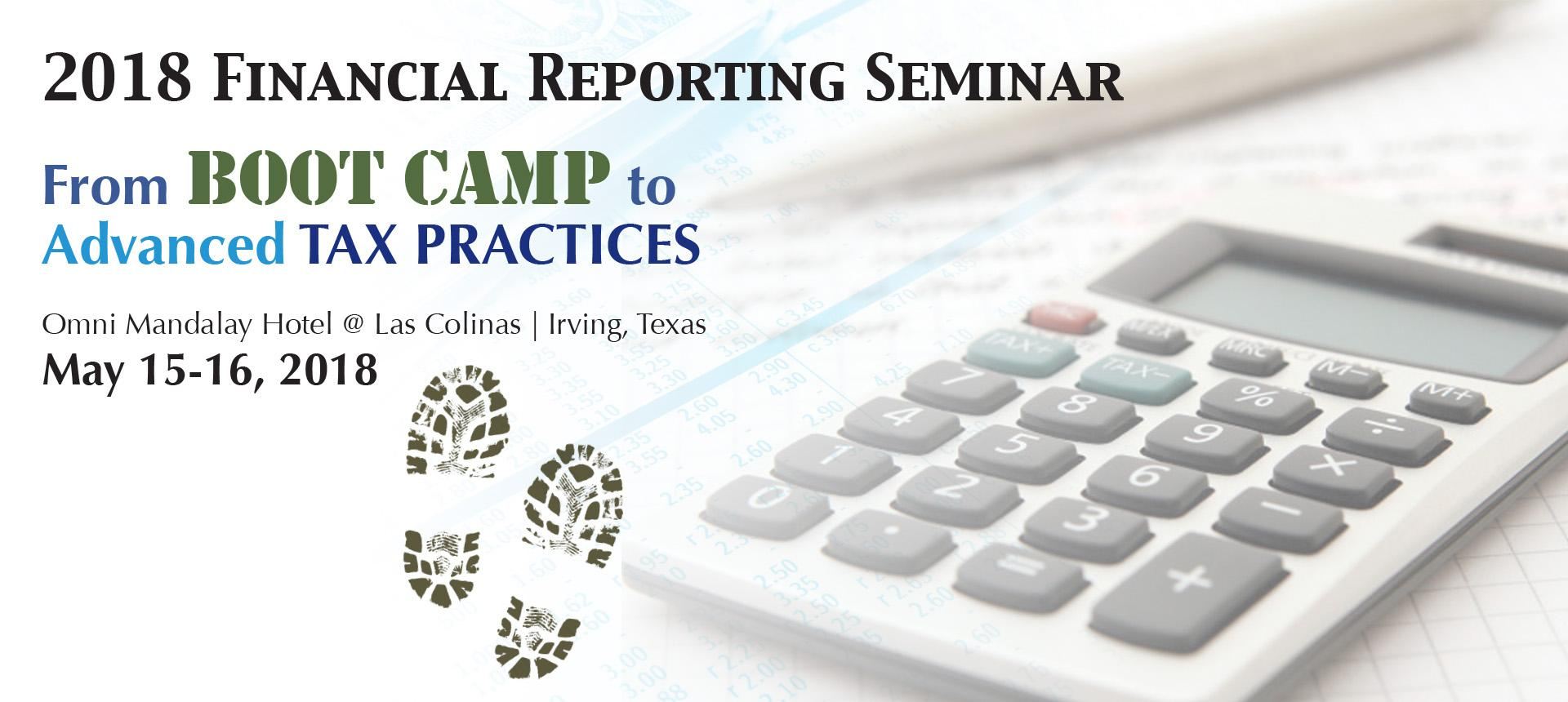 Register for the Financial Reporting Seminar
