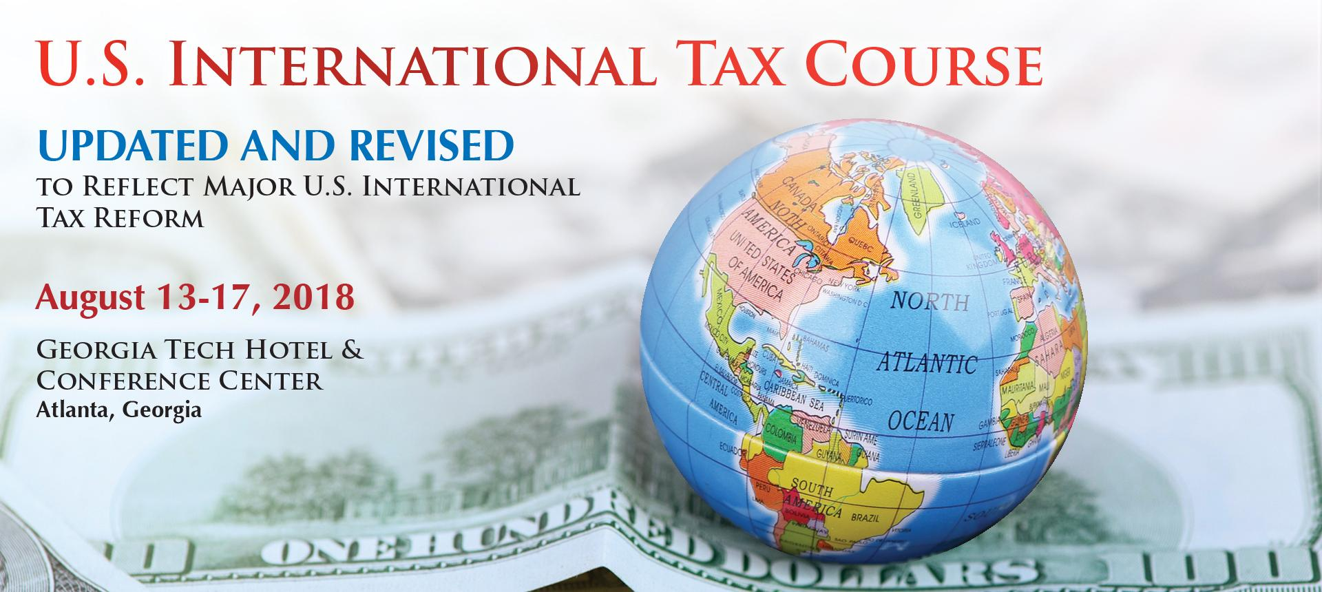 Register for the U.S. International Tax Course