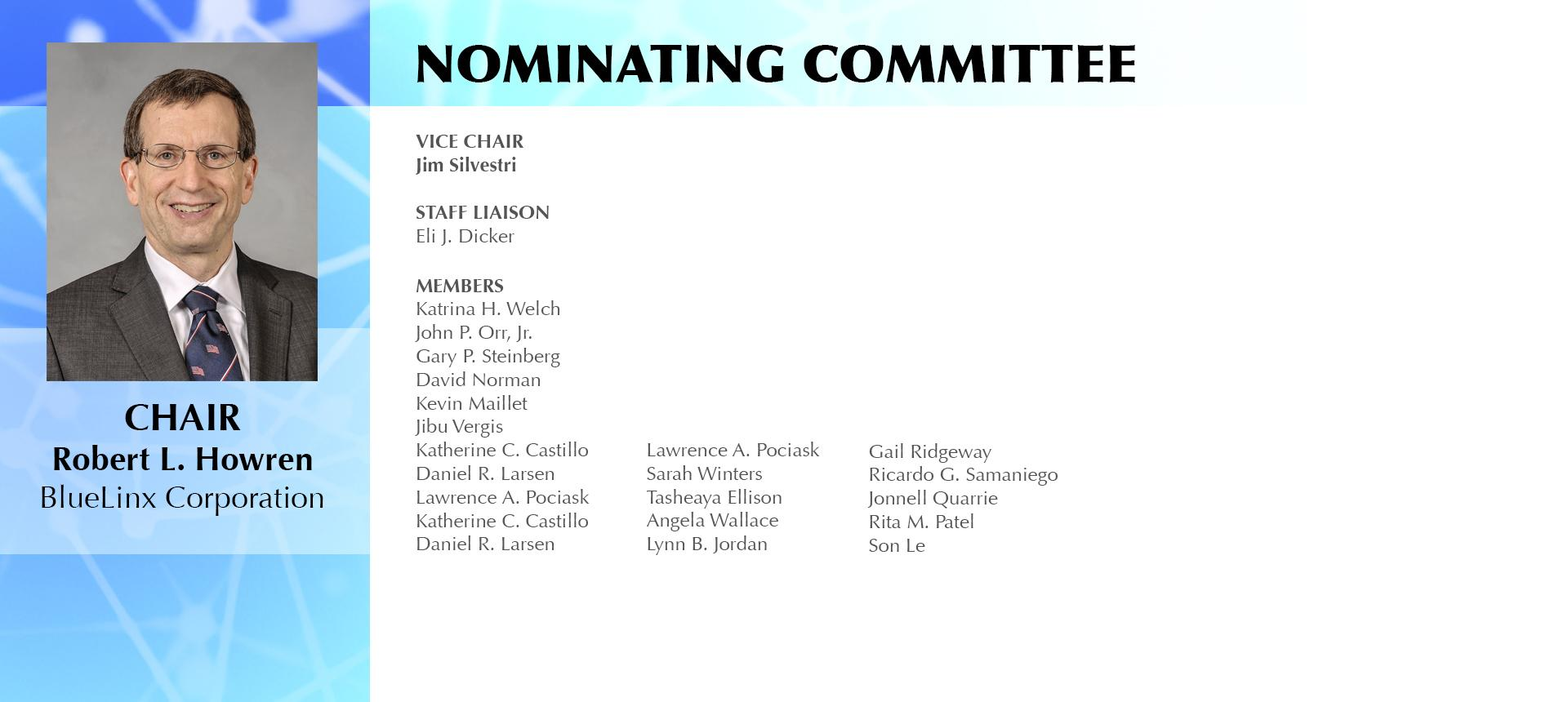TEI's Nominating Committee seeks your input!